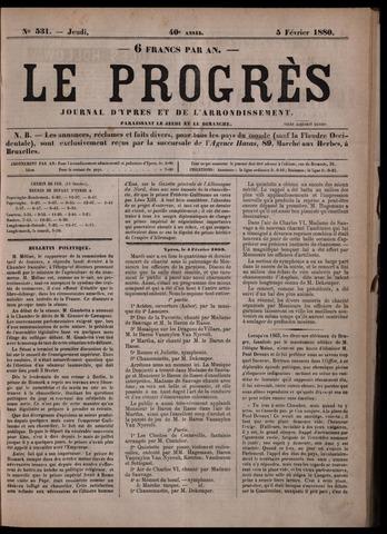 Le Progrès (1841-1914) 1880-02-05