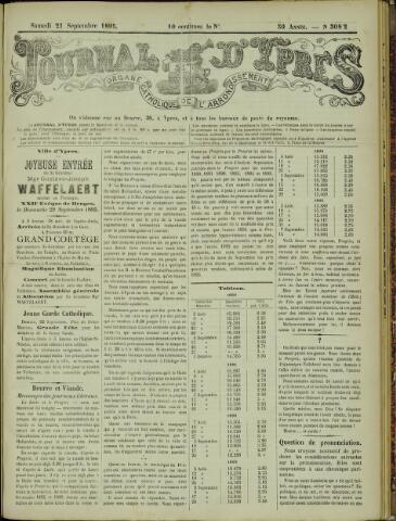 Journal d'Ypres (1874 - 1913) 1895-09-21