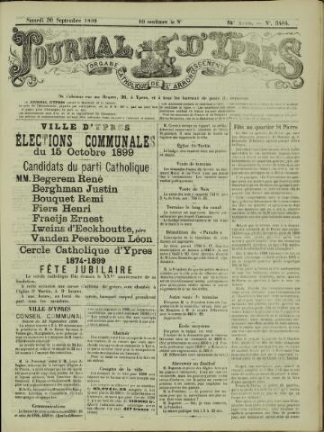 Journal d'Ypres (1874 - 1913) 1899-09-30
