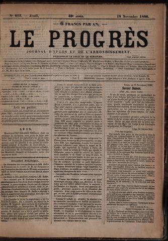 Le Progrès (1841-1914) 1880-11-18