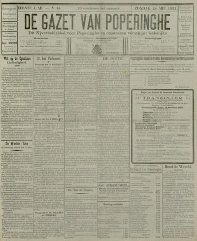 De Gazet van Poperinghe  (1921-1940) 1922-05-28