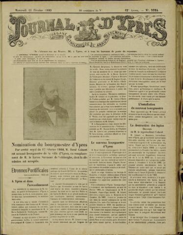 Journal d'Ypres (1874 - 1913) 1900-02-21