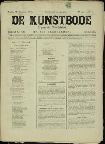 De Kunstbode (1880 - 1883) 1881-11-27
