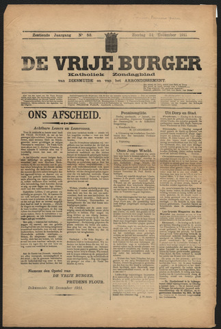 De Vrije Burger 1911-12-31