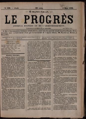 Le Progrès (1841-1914) 1880-03-04