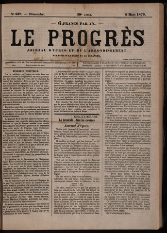 Le Progrès (1841-1914) 1879-03-09