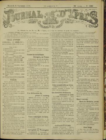 Journal d'Ypres (1874 - 1913) 1898-11-09
