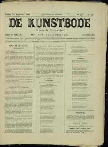 De Kunstbode (1880 - 1883) 1881-09-25