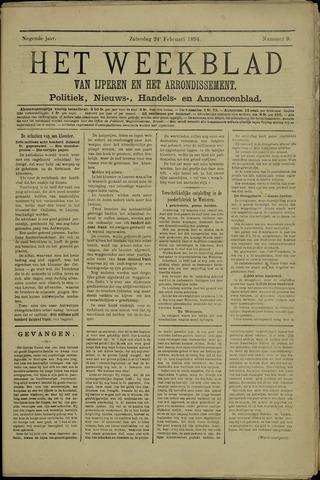 Het weekblad van Ijperen (1886 - 1906) 1894-02-24