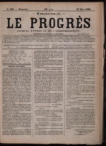 Le Progrès (1841-1914) 1880-03-28