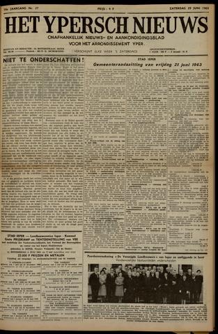 Het Ypersch nieuws (1929-1971) 1963-06-29