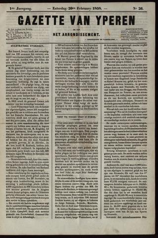 Gazette van Yperen (1857-1862) 1858-02-20
