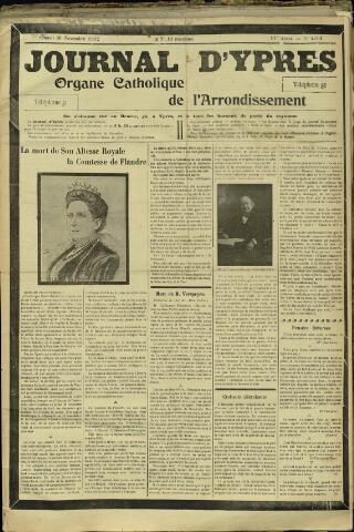 Journal d'Ypres (1874 - 1913) 1912-11-30