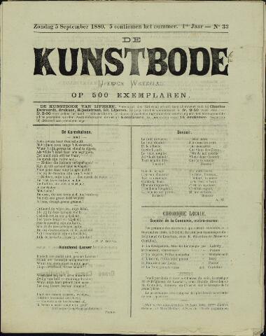 De Kunstbode (1880 - 1883) 1880-09-05