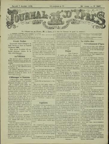 Journal d'Ypres (1874 - 1913) 1899-01-07