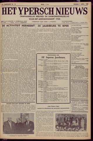 Het Ypersch nieuws (1929-1971) 1968-04-05