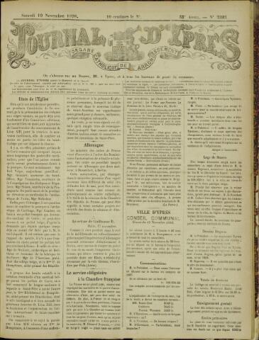 Journal d'Ypres (1874 - 1913) 1898-11-19
