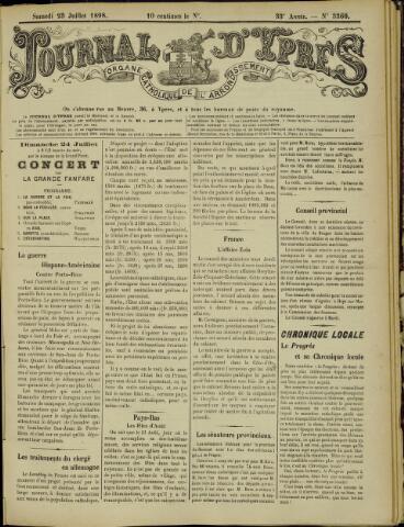 Journal d'Ypres (1874 - 1913) 1898-07-23