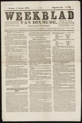 Weekblad van Dixmude 1854-10-01