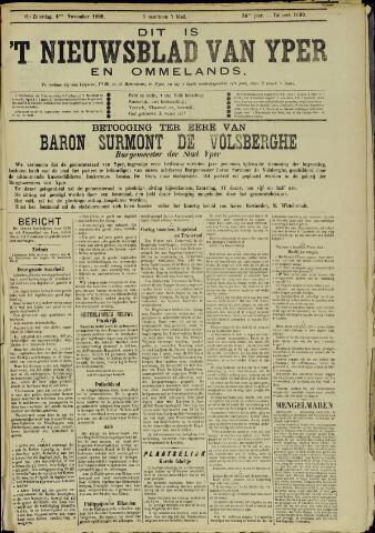 Nieuwsblad van Yperen en van het Arrondissement (1872 - 1912) 1899-11-04