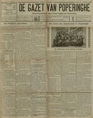 De Gazet van Poperinghe  (1921-1940) 1930-09-21