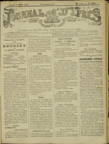 Journal d'Ypres (1874 - 1913) 1898-07-09