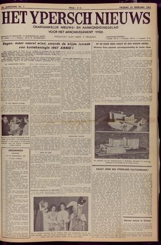 Het Ypersch nieuws (1929-1971) 1967-02-24