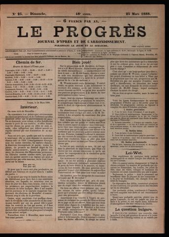 Le Progrès (1841-1914) 1888-03-25