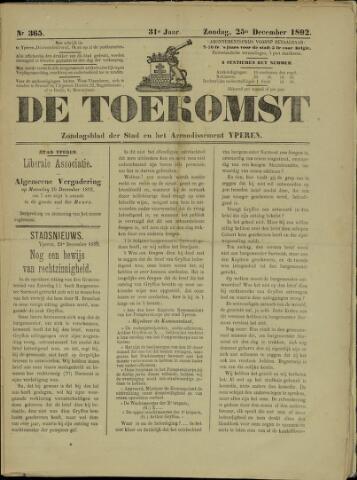 De Toekomst (1862 - 1894) 1892-12-25