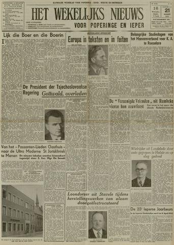 Het Wekelijks Nieuws (1946-1990) 1953-03-21