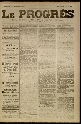 Le Progrès (1841-1914) 1905-11-12