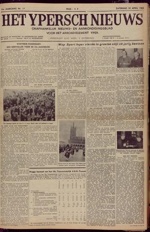 Het Ypersch nieuws (1929-1971) 1963-04-20