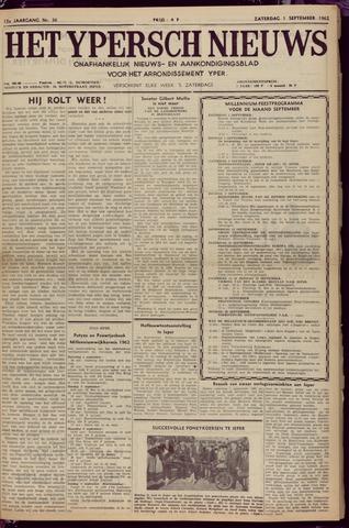 Het Ypersch nieuws (1929-1971) 1962-09-01
