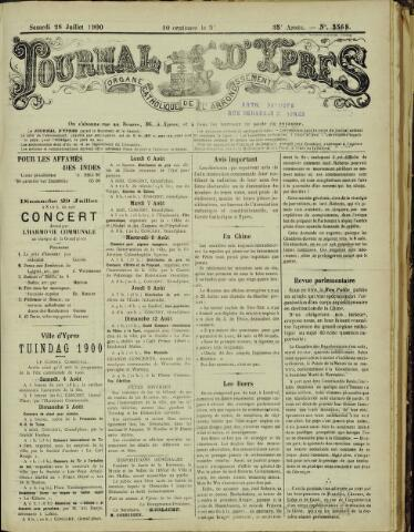 Journal d'Ypres (1874 - 1913) 1900-07-28