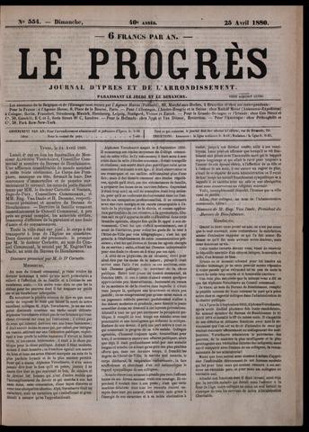 Le Progrès (1841-1914) 1880-04-25