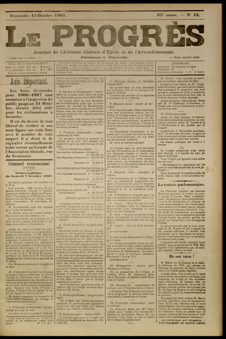 Le Progrès (1841-1914) 1905-10-15