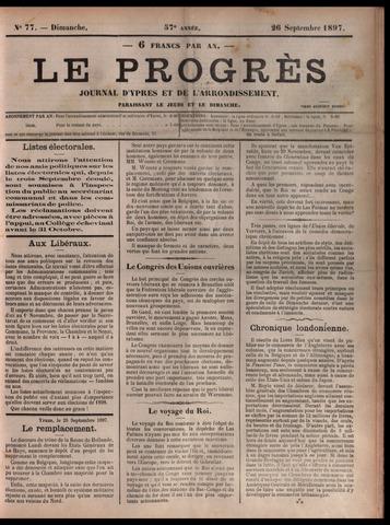 Le Progrès (1841-1914) 1897-09-26