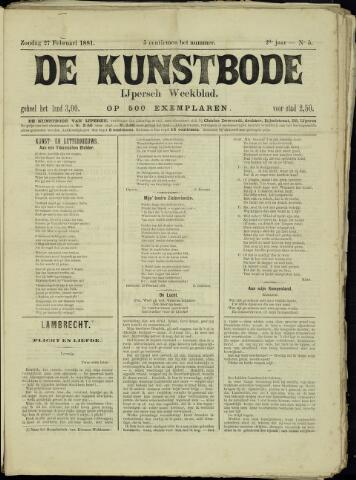 De Kunstbode (1880 - 1883) 1881-02-27