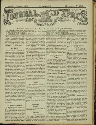 Journal d'Ypres (1874 - 1913) 1900-09-22