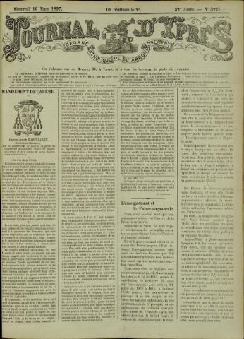 Journal d'Ypres (1874 - 1913) 1897-03-10