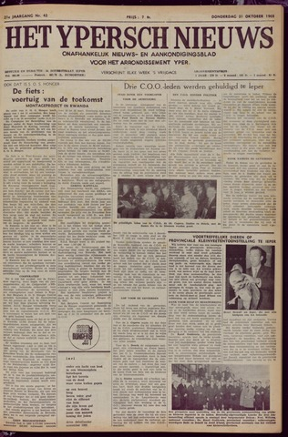 Het Ypersch nieuws (1929-1971) 1968-10-31