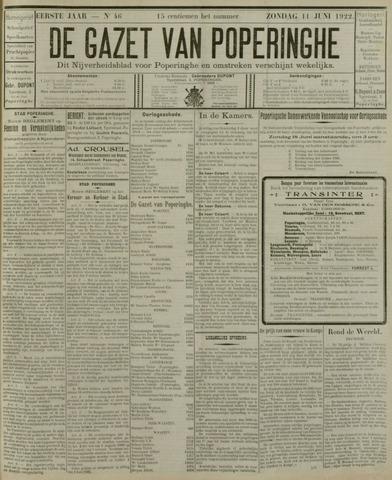 De Gazet van Poperinghe  (1921-1940) 1922-06-11