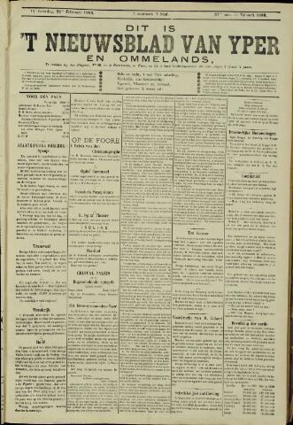 Nieuwsblad van Yperen en van het Arrondissement (1872 - 1912) 1902-02-22