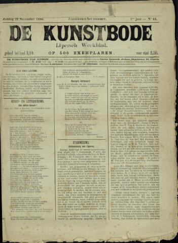 De Kunstbode (1880 - 1883) 1880-11-21