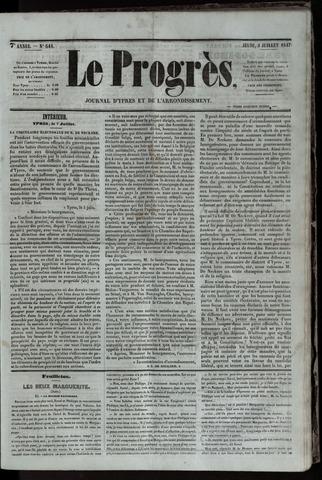 Le Progrès (1841-1914) 1847-07-08