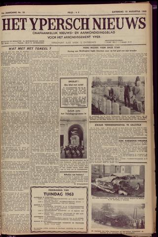 Het Ypersch nieuws (1929-1971) 1963-08-10