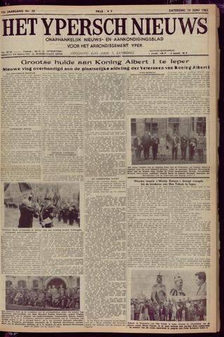 Het Ypersch nieuws (1929-1971) 1962-06-16