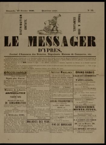 Le Messager d'Ypres (1890) 1890-10-19