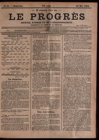 Le Progrès (1841-1914) 1892-05-22