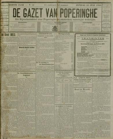 De Gazet van Poperinghe  (1921-1940) 1922-07-23
